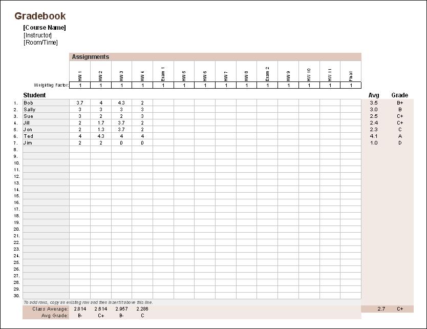 Gradebook - GPA System